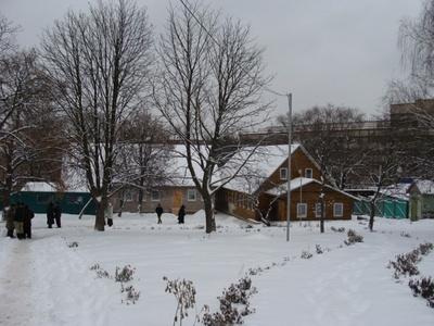 Монастырь зимой 1